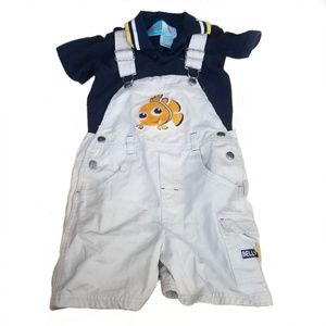 Disney finding Nemo overalls and shirt set